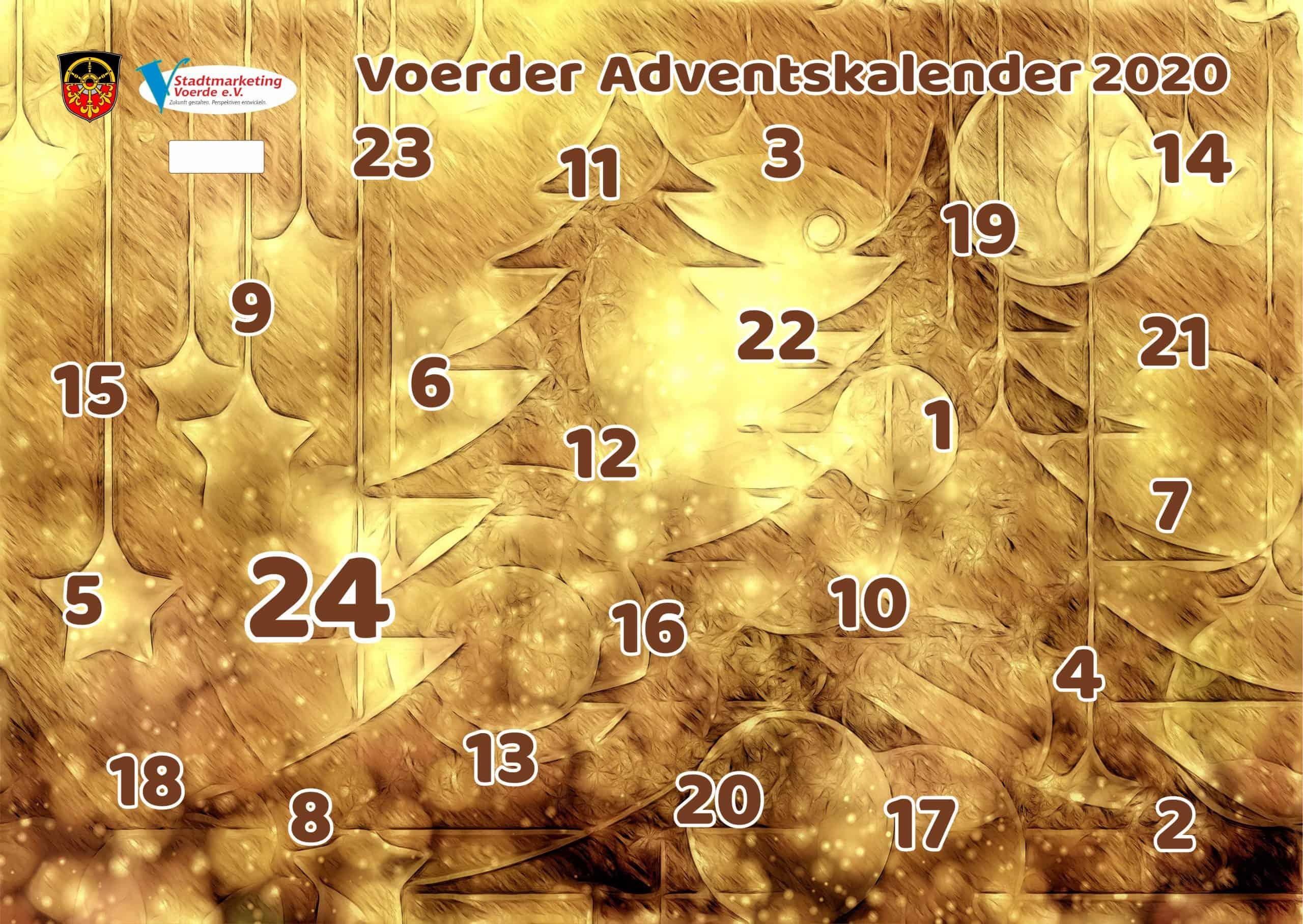 Das Bild zeigt den Voerder Adventskalender